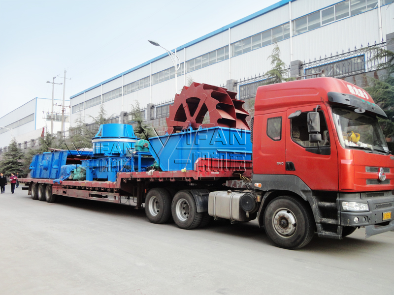 YIFAN Sand Making Machine, Vibrating Screen and Sand Washer to Hunan
